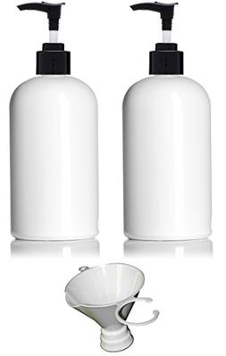 Earth's Essentials  16 Ounce Refillable White PET Plastic Pu