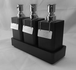 Restoration Hardware Resin Pump Shelf Set w/ 3 Pumps & Tags