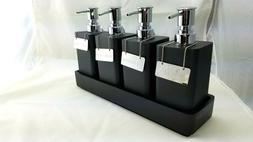 Restoration Hardware Resin Pump Shelf Set w/ 4 Pumps & Tags