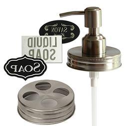 Milkweed Farms Premium Anti Rust Stainless Steel Mason Jar S