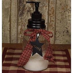 Rustic Primitive Sarah's Mason Jar Soap Dispenser Bathroom o