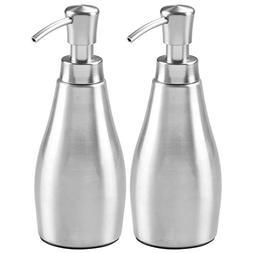 mDesign Rustproof Aluminum Liquid Hand Soap Dispenser Pump B