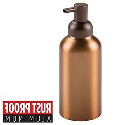 mDesign Rustproof Aluminum Soap Dispenser Pump for Kitchen,