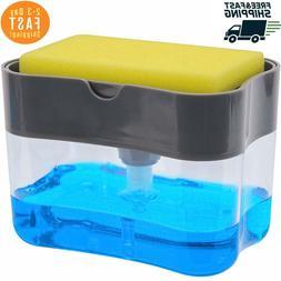 S&T 592401 Soap Pump Dispenser & Sponge Holder for dish soap