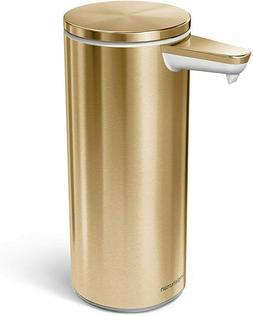 simplehuman 9 oz. Sensor, Brass Stainless Steel Kitchen Soap