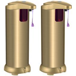 Set of 2 Touchless Automatic Soap Dispenser Adjustable Volum