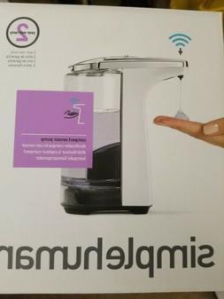 simplehuman Compact Sensor Pump with Sample Soap, White, 8oz