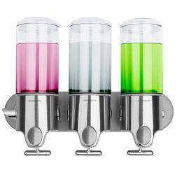 simplehuman Triple Wall Mount Shower Pump 3 x 15 fl. oz. Sha