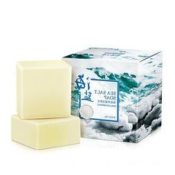 Skin Shrink Pores Face Wash Soap Sea Salt Soap Bath Shower R