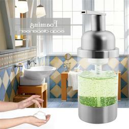 Soap Dispenser Bottle Foaming Pump Countertop Stainless Stee
