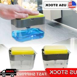 Soap Dispenser for Kitchen + Sponge Holder 2-in-1 - Quality