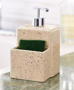 Soap Dispenser with SPONGE Holder Kitchen Bathroom Decor Org