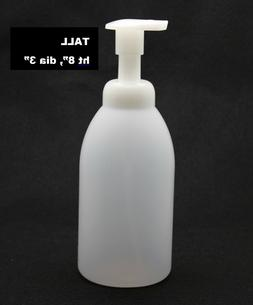 SOAP FOAM DISPENSER 20ozTRANSLUCENT ROUND TALL - REFILL, QUA