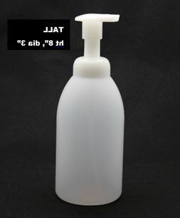 SOAP FOAM DISPENSER 20ozTRANSLUCENT ROUND TALL - REFILL, QUA