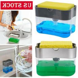 Soap Pump & Sponge Caddy 2 in 1 Soap Dispenser Kitchen Usefu