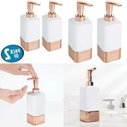 Mdesign Square Ceramic Refillable Liquid Soap Dispenser Pump