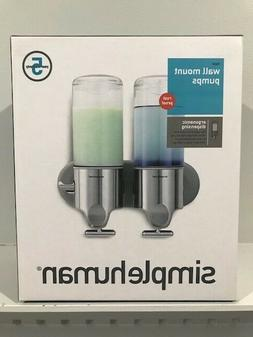 simplehuman Stainless Steel Wall-Mount Pumps, Shampoo & Soap