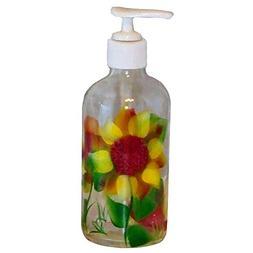 ArtisanStreet Sunflower Design Soap/Pump Lotion Dispenser, H