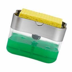 S&T 592401 Soap Pump Dispenser & Sponge Holder