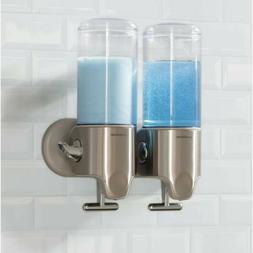 Simplehuman twin wall mount shower soap dispenser pumps bran