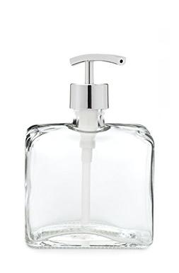 Rail19 Urban Square Recycled Glass Soap Dispenser with Metal