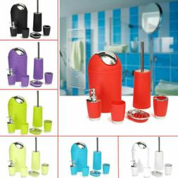 US 6pcs/Set Bathroom Accessory Bin Soap Dish Dispenser Tumbl