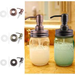 US Stainless Steel Mason Ball Jar Soap/Lotion Dispenser Bott
