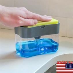 USA Soap Pump Dispenser & Sponge Holder for Dish Soap and Sp