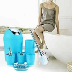 Bathroom Accessories Set 6pc Bathroom Set Trash Can Soap Dis