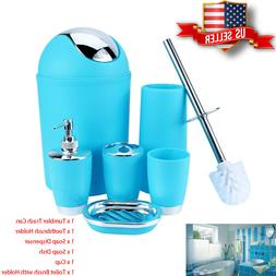 Useful Bathroom Accessories 6pc Bathroom Set Trash Can Soap