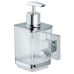 Wenko Vacuum-Loc Quadro Bathroom Liquid Soap Dispenser, Silv