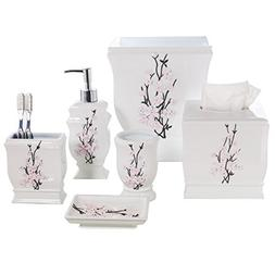 Creative Scents Vanda 6- Piece Bathroom Accessories Set- Inc