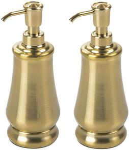 mDesign Vintage Decorative Metal Refillable Liquid Soap Disp