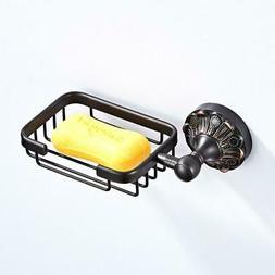 Wall Mount Soap Dish Soap Holder Rack Shelf Soap Dispenser B