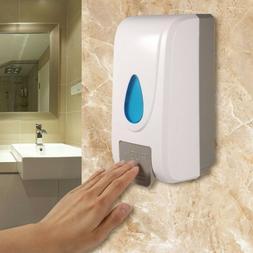 Wall Mount Soap Dispenser Bathroom Shower Lotion Shampoo Liq
