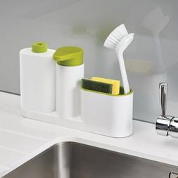Washing Sponge Storage Sink Detergent Soap Dispenser Storage