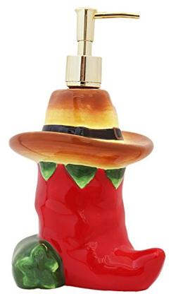 Western Red and Green Chili Pepper Soap Dispenser, 86188 by