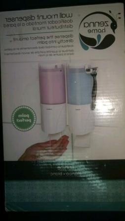 Zenna Home 5712WW, Double Shower Dispenser, White