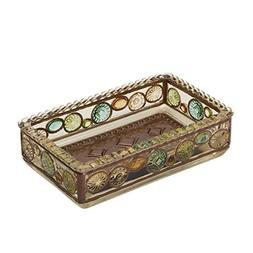 Zenna Home India Ink Boddington Soap Dish, Bronze with Trans